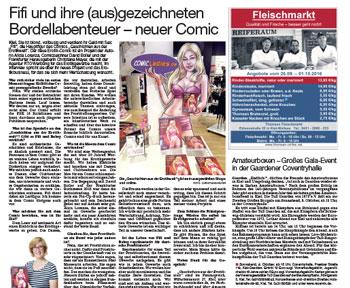 Presseartikel über Comicladies bei Kieler Express am Wochenende vom 24.09.16
